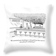 We Committed Your Hamburger Throw Pillow