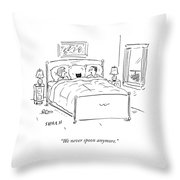 We Never Spoon Throw Pillow