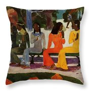 We Shall Not Go To Market Today 1892 Throw Pillow