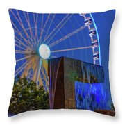Wealthy At Waterfront Park Throw Pillow