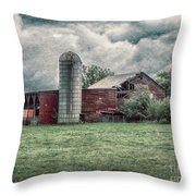 Weathered Worn And Standing Strong Throw Pillow by Judy Hall-Folde