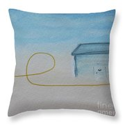 Weekend At Crystal Cove Throw Pillow by Kim Nelson