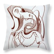 Weeping Woman With Prayer Beads Throw Pillow by Anthony Falbo