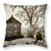 Weikert House At Gettysburg Throw Pillow