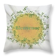 Welcome - Bienvenue Throw Pillow