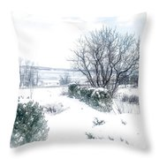 Welcome March Throw Pillow