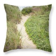 Wellfleet Sand Dunes Throw Pillow
