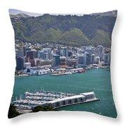Wellington Nz Throw Pillow