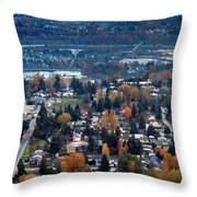 Wenatchee In November Throw Pillow