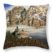 Werfen Austria Castle In The Clouds Throw Pillow