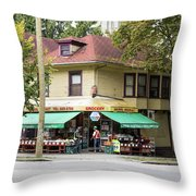 West End Grocery Store Throw Pillow by Juan Contreras
