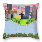 West End Overlook Throw Pillow by John Wiegand