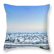Western Lake In The Hills Throw Pillow