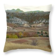 Western Edge Grasslands Grandeur Throw Pillow