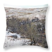 Western Edge Winter Hills Throw Pillow