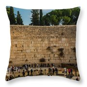 Western Wall Throw Pillow