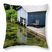 Westport Harbour In Southern Ontario Throw Pillow