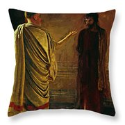What Is Truth Christ And Pilate Throw Pillow