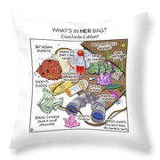 What's In Her Bag Throw Pillow