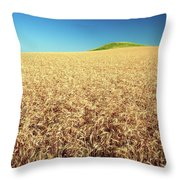 Wheat And Mounds Throw Pillow