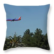 Wheels Down Throw Pillow