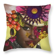 When African Eyes Are Smiling Throw Pillow