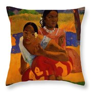When Are You Getting Married 1892 Throw Pillow