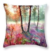 When Heathers Bloom Throw Pillow