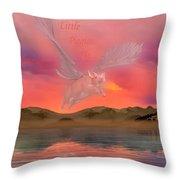 When Little Piggies Fly Throw Pillow