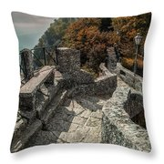 When The Leaves Go Golden Throw Pillow