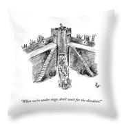 When Under Siege Throw Pillow