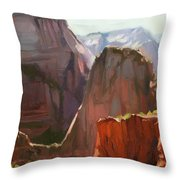 Where Angels Land Throw Pillow