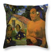 Where Are You Going 1892 Throw Pillow