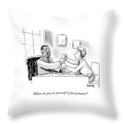 Where Do You See Youself Throw Pillow