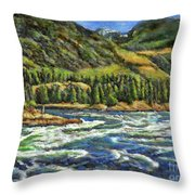 Where Waters Meet 3 Throw Pillow