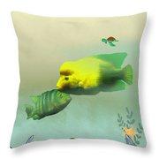 Whimsical Fish Throw Pillow