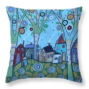 Whimsy Viilage Throw Pillow