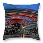 Whirling Into Fall 2 Throw Pillow
