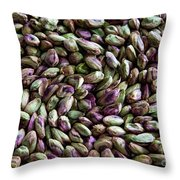 Whirling Pistachios Throw Pillow