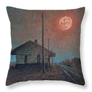 Whistle Of The Past Throw Pillow