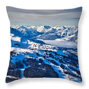 Whistler In Winter Throw Pillow