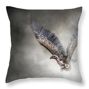 White-backed Vulture - In The Dust Throw Pillow
