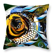 White Headed Mouth Fish Throw Pillow