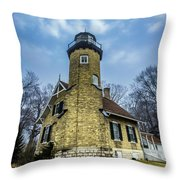 White River Lighthouse Throw Pillow