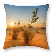 White Sands Sunset Throw Pillow