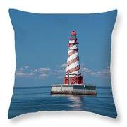 White Shoal Lighthouse 20 Throw Pillow