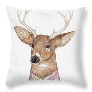 White-tailed Deer Throw Pillow by Animal Crew