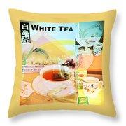 White Tea Blend  Throw Pillow