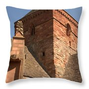 Whitekirk 12th Century Church Tower In East Lothian Throw Pillow