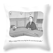 Why So Mopey? Throw Pillow